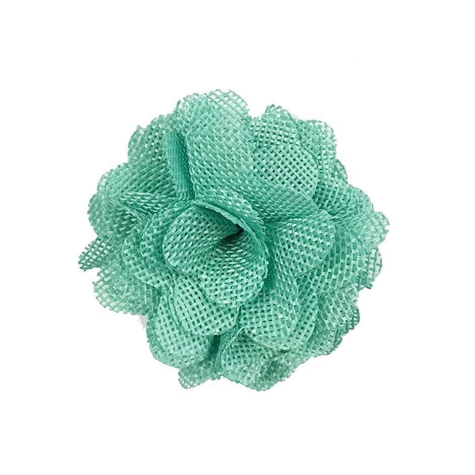 Wrapables Shabby Chic Burlap Rose Flower 3 Inch Diameter (Set of 12), Mint