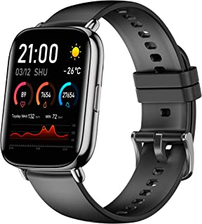 """Smart Watch Fitness Tracker 1.69"""" Touch Screen IP68 Waterproof 24 Sports Modes with Body Temperature Heart Rate Blood Oxyg..."""