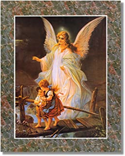 Guardian Angel with Children On Bridge Religious #2 Wall Picture Art Print