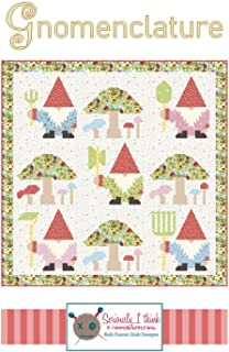 "Gnomenclature Gnomes Quilt Pattern by Kelli Fannin Quilt Designs from Seriously I Think it Needs Stitches KFQP137-86"" x 86"""