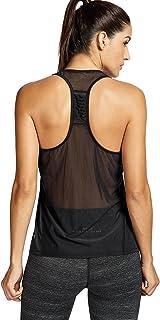 CRZ YOGA Women's Tops Activewear Mesh Workout Sports Lightweight Racerback Tank Tops