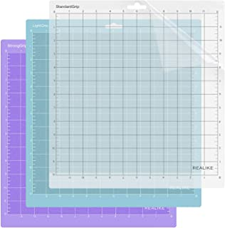 REALIKE Tapis de découpe Variety Remplacement 3PCS pourCricut Explore Machine,Cricut Expression Machine Maker 30.48cmX30.4...