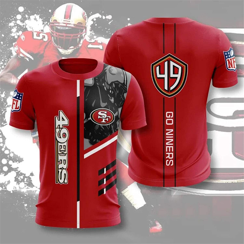 XS-5XL Geschenke F/ür Rugby-Fans Wird Nicht Verblassen,XXXL Xiaolimou Herren T-Shirt 2020 San Francisco 49Ers Rugby Jersey Jugend Outdoor Freizeit Sport Kurzarm Top