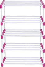 RMA Handicrafts Multipurpose Rod Rack Pink (5 Steps)