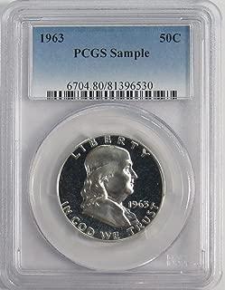 1963 P Franklin Silver Half Dollar 50c Sample Coin PCGS