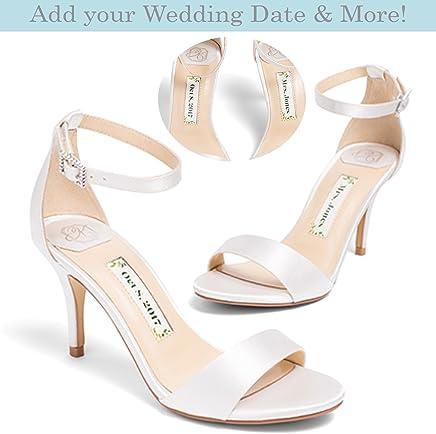 "109509d3352 Bridal Women s High Heel Ivory Satin Wedding Shoe – Kate Whitcomb Shoes  style ""Vera"""