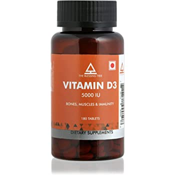 The Blessing Tree Vitamin D3 5000 IU Supplement. 180 Tablets.