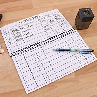 Large Print Spiral Bound Check Register Book for Easy Transaction Reference