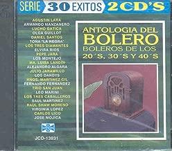Antologia Del Bolero Boleros De Los 20,s 30,s Y 40,s