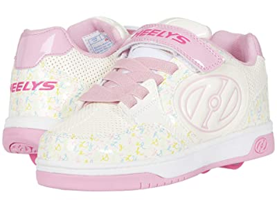 Heelys Plus X2 (Little Kid/Big Kid) (White/Light Pink/Multi) Girl