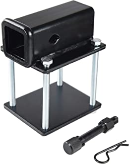 Fits for Bike Racks TOPTOW RV Bumper 2 inch Hitch Receiver Adapter 63800 for 4 inch X 4 inch and 4.5 inch X 4.5 inch Bumpers Cargo Carriers Camper-on