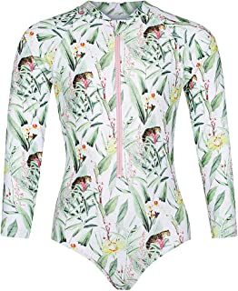 Tame the Sun Long Sleeve Swimsuit for Girls, UPF 50+, Ages 6-14, One Piece Rash Guard Bathing Suit