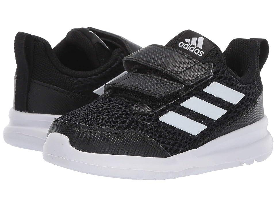 adidas Kids AltaRun CF (Toddler) (Core Black/Footwear White/Core Black) Boys Shoes