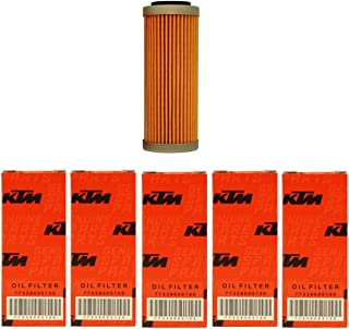 NEW OEM KTM OIL FILTERS 5 PACK 350 400 450 500 530 EXC-F SX-F XC-F XCF-W FACT. ED 2008-2017 5X 77338005100