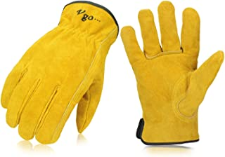 thick leather work gloves