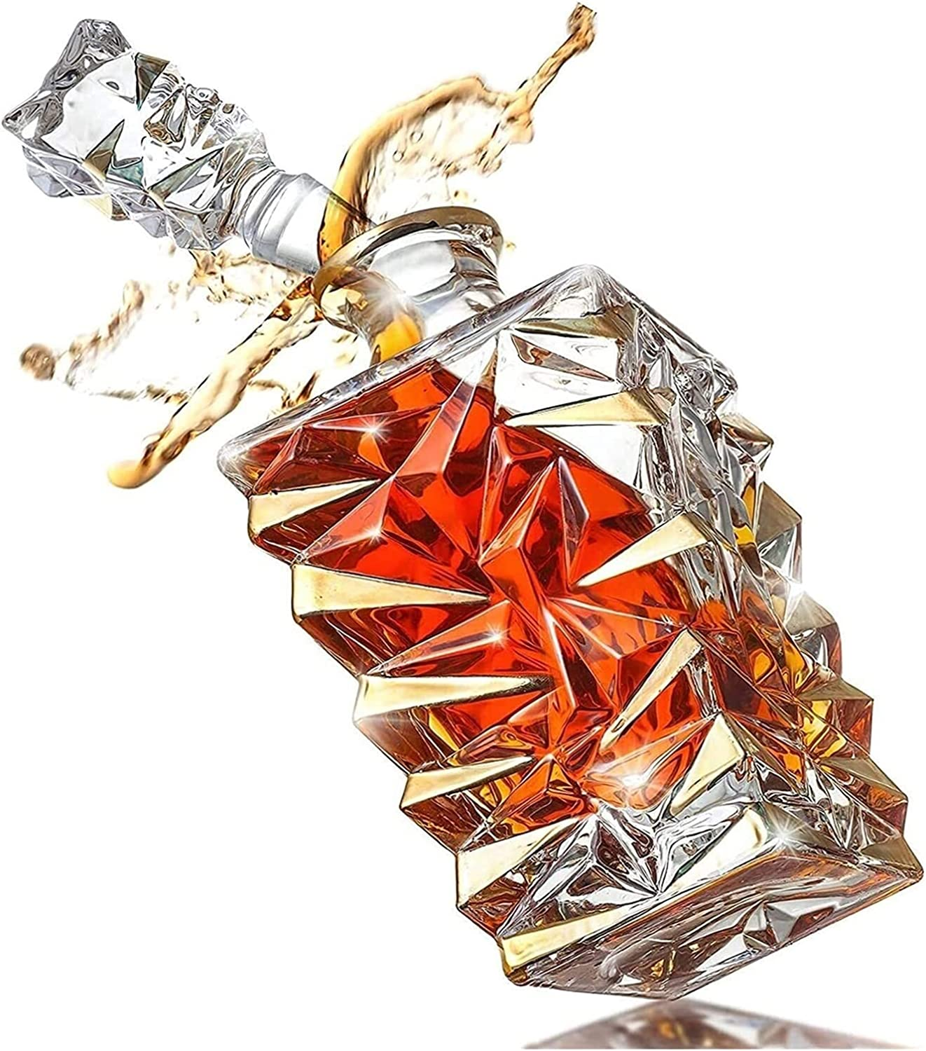 Decanter set Whiskey 850 Ml Carafes ! Super beauty product restock quality top! Liqu Max 67% OFF Whisky Crystal