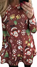 Best christmas snowman printed dress Reviews