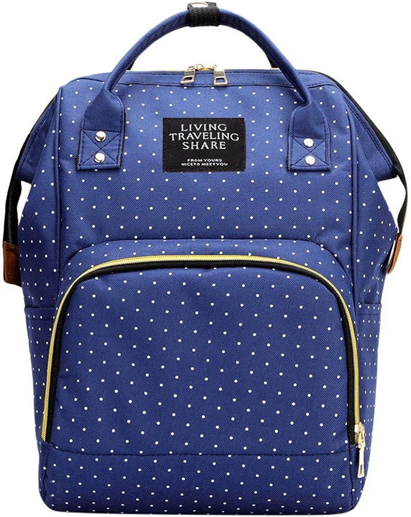 Zaino Mamma Multifunzione Neonato,TTMall Multifunzione Zaino Fasciatoio Bambino con Fascia Fashion Mommy Baby Diaper bag zaino da viaggio con un fasciatoio,25cm W x17cm x38cm L H