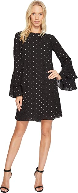 CeCe - Bell Sleeve Gallery Polka Dots Dress
