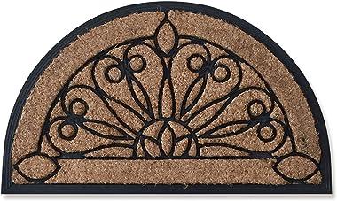 Entrance Coconut Coir Palm Floo Mat Doormat Home Household Indoor Outdoor Hall Footpad Non-Slip Carpet Carpet(60x90CM)