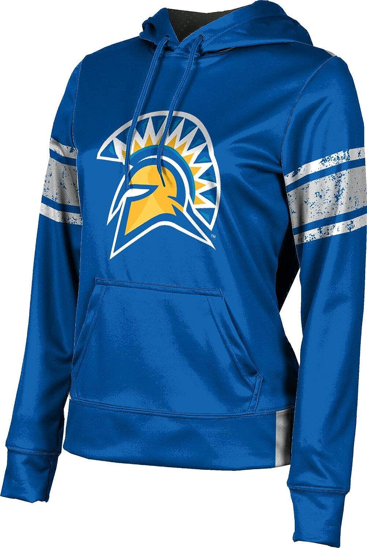 San Jose State University Girls' Pullover Hoodie, School Spirit Sweatshirt (End Zone)