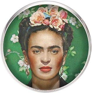 Spilla con perno in acciaio inossidabile, diametro 25 mm, spillo 0,7 mm, Fatto a Mano, Illustrazione Frida Feminist 2