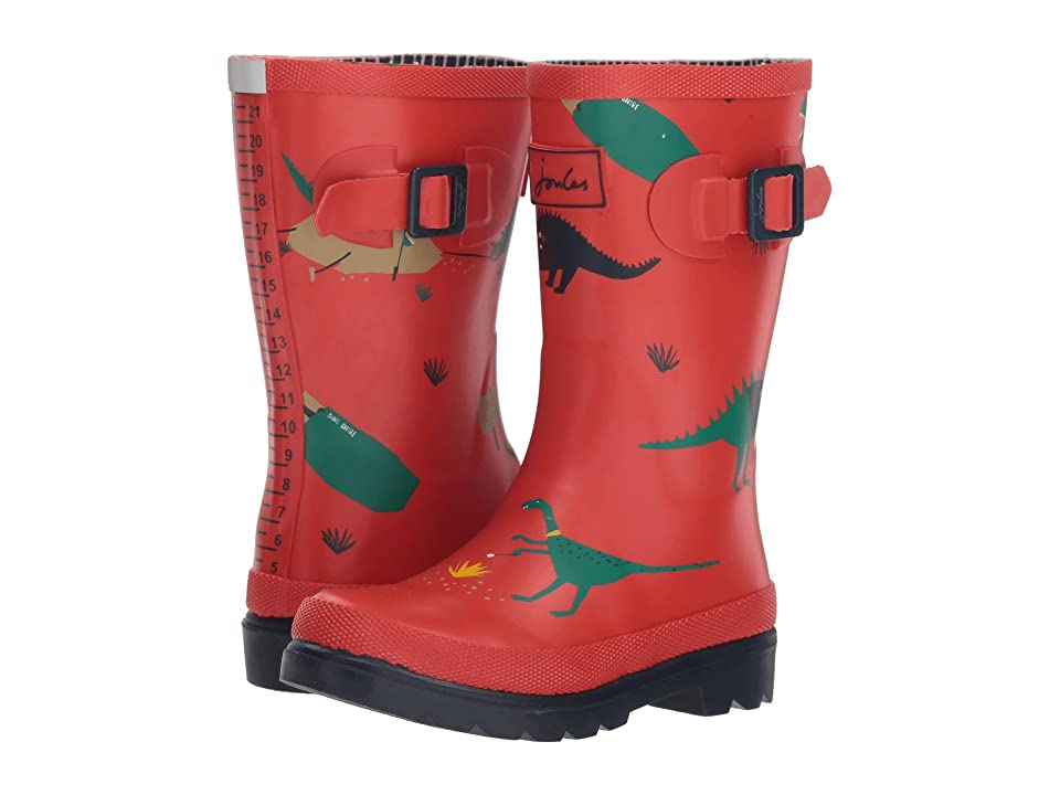 Joules Kids Printed Welly Rain Boot (Toddler/Little Kid/Big Kid) (Red Dinosaur) Boys Shoes