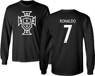Portugal 2018 National Soccer #7 Cristiano Ronaldo World Championship Men's Long Sleeve T-Shirt