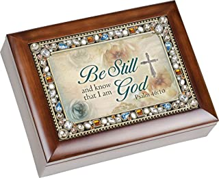 Image of Pretty Bible Scripture Religious Music Box