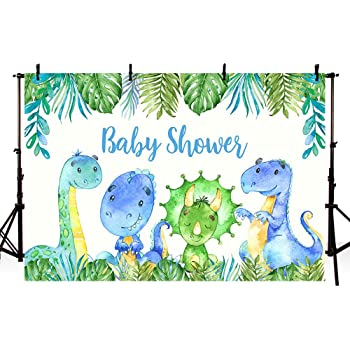 Cartoon Brown Little Dinosaur Photography Background Safari Jungle Theme Birthday Party Background Tropical Cartoon Brown Little Dinosaur Cake Table Decoration