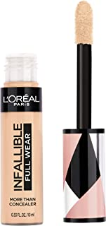 L'Oréal Paris Makeup Infallible Full Wear Concealer, Full Coverage, EXTRA LARGE Applicator, Waterproof, Multi-Use Concealer to Shape, Cover, Contour & Sculpt, Matte Finish, Cashmere, 0.33 fl. oz.