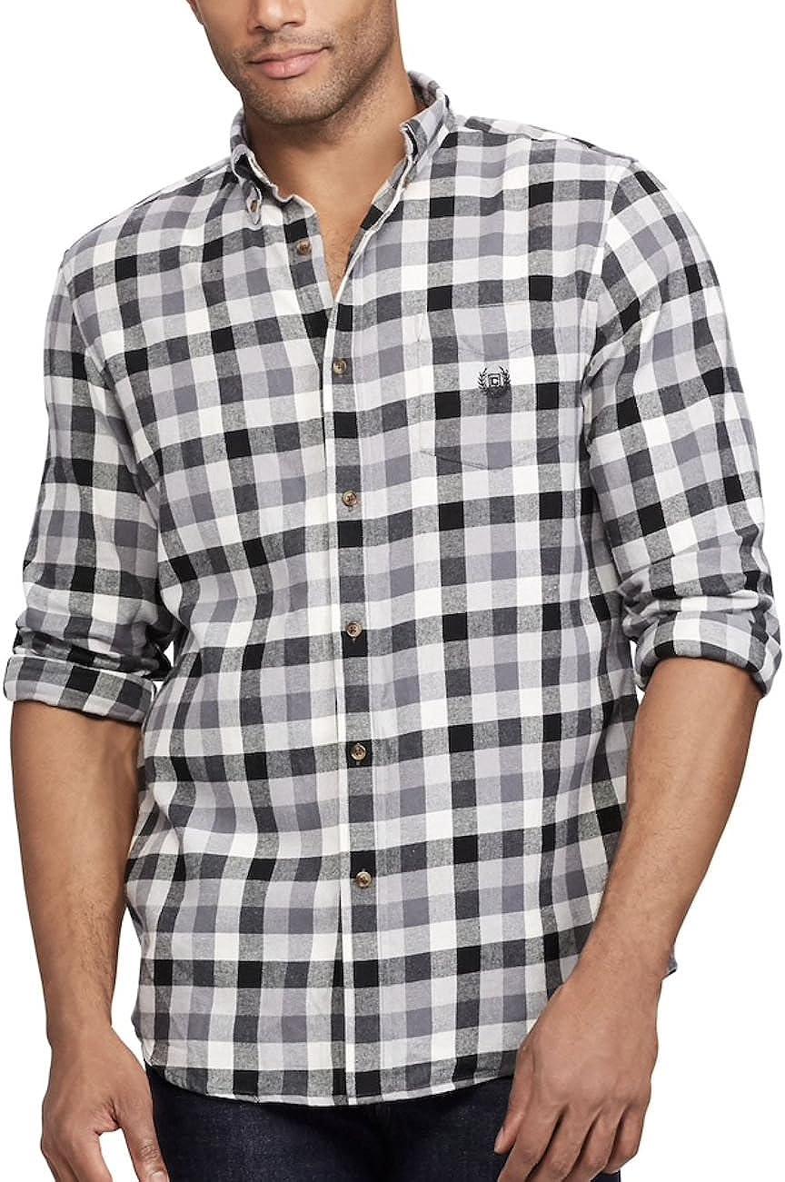 CHAPS Men's Plaid Flannel Performance Long-Sleeve