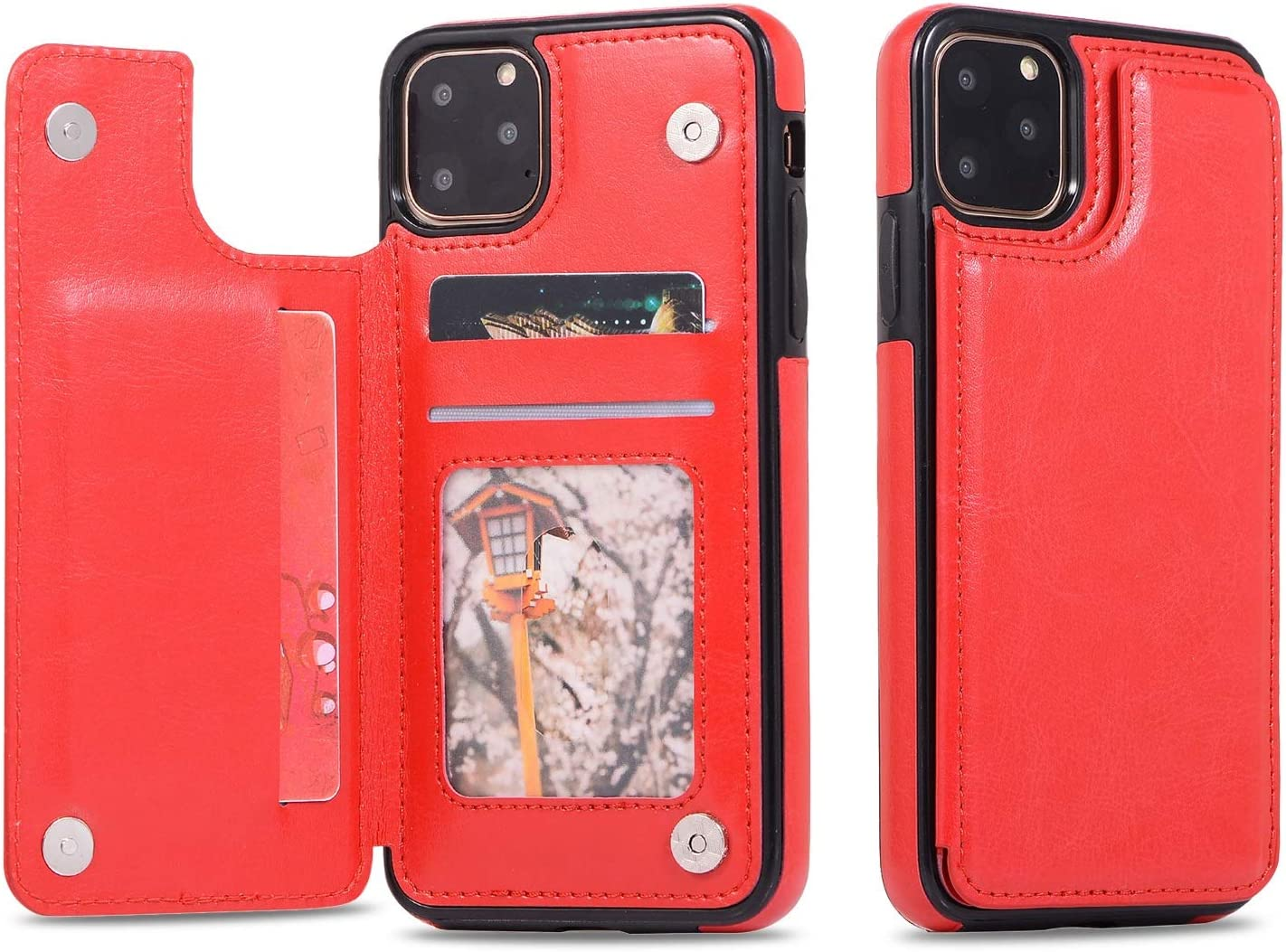XINHUANG Leather Phone Case for iPhone 8 11 Pro Max X 7 8 Plus 5 5s Business Card Holders Retro PU Case for iPhone Xs Max XR 6 6s 7 8 XS (Color : C, Size : Iphone7/8 Plus)