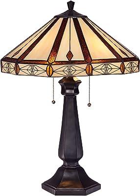 Amazon.com: Quoizel Navajo tfno6325va lámpara de mesa: Home ...