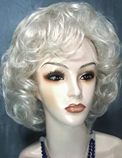 SALLY Curly Page Wig by Mona Lisa - Gray 60 Silver White