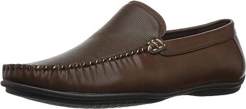 Nunn Bush Men's Quail Valley Venetian Slip-On Driving Style Loafer, marrón, 8.5 Wide US