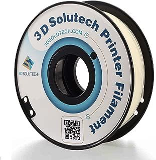 3D Printer PLA Filament 1.75MM Filament, Dimensional Accuracy +/- 0.03 mm, 2.2 LBS (1.0KG) - 3D Solutech (Glow in The Dark)