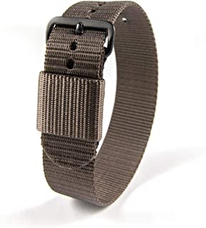 Marathon Watch Ballistic Nylon Watch Band, Military Grade with Stainless Steel, Non-Magnetic Buckle
