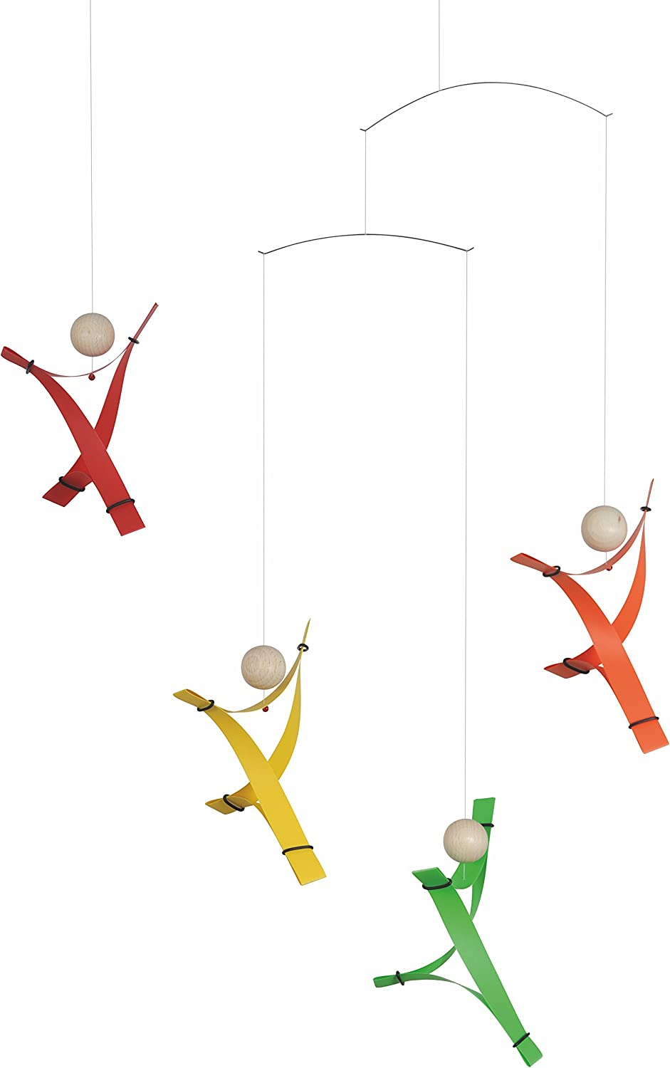 Free Minds Rainbow Hanging Mobile - 17 Inches Plastic - Handmade in Denmark by Flensted
