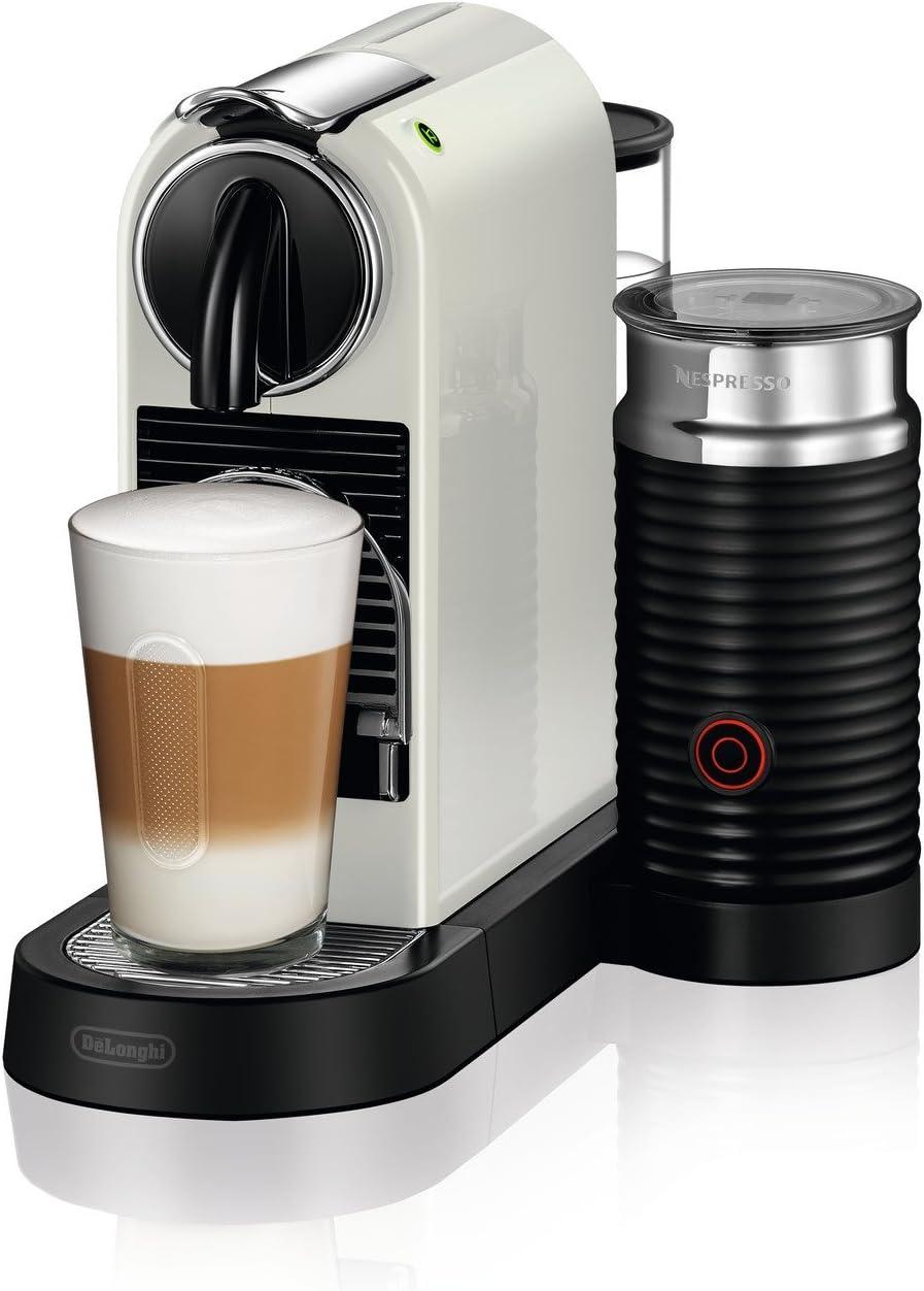 DeLonghi Nespresso Citiz EN267.WAE Cafetera con cápsulas, sistema de extracción especial, 1710 W, 1 L, plástico, Blanco: Amazon.es: Hogar