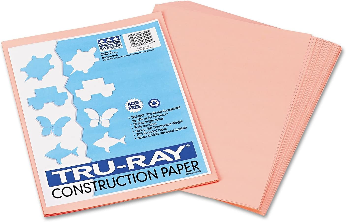 Pacon 103010 Tru-Ray Sale SALE% OFF Construction Paper 76 9 lbs Ranking TOP5 x 12 Salmon