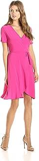 Women's Short-Sleeve Ballerina Wrap Dress