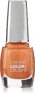 Lakmé True Wear Color Crush Nail Color, Orange 52, 9ml