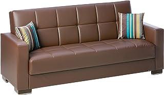 Ottomanson Sofa, 88 x 38 X 36, Brown
