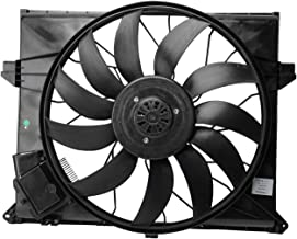 TOPAZ 1645000093 Radiator Condenser Cooling Fan Brushless Motor Assembly for Mercedes Benz GL ML R Class