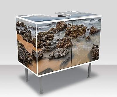 La Roccia Mobili Bagno.Wandmotiv24 Mobile Bagno Bellissimo Paesaggio Marino Con Rocce