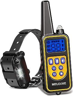 comprar comparacion Meloive Collar adiestramiento para Perros,Collar antiladridos,Recargable y Resistencia al Agua de IP67 con un Alcance de 8...