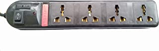 Pinnacle 4 Universal Sockets Quality Computer Busters 1.5m Wire (Colour Black)