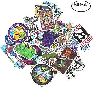 Stickers [50/104/110 PCS], Waterproof Vinyl Stickers for Laptop, Car, Bicycle, Helmet, Skateboard, Luggage No-Duplicate Stickers Per Set(A & B). (R&M50B)