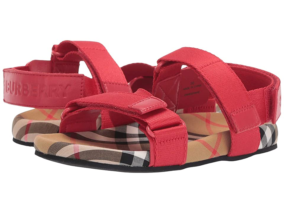 Burberry Kids Redmire VCP Sandal (Toddler/Little Kid) (Bright Red/Antique Yellow) Kid